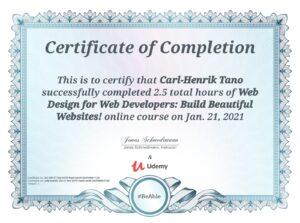 Kursdiplom Web Design for Web Developers - Build Beautiful Web Sites
