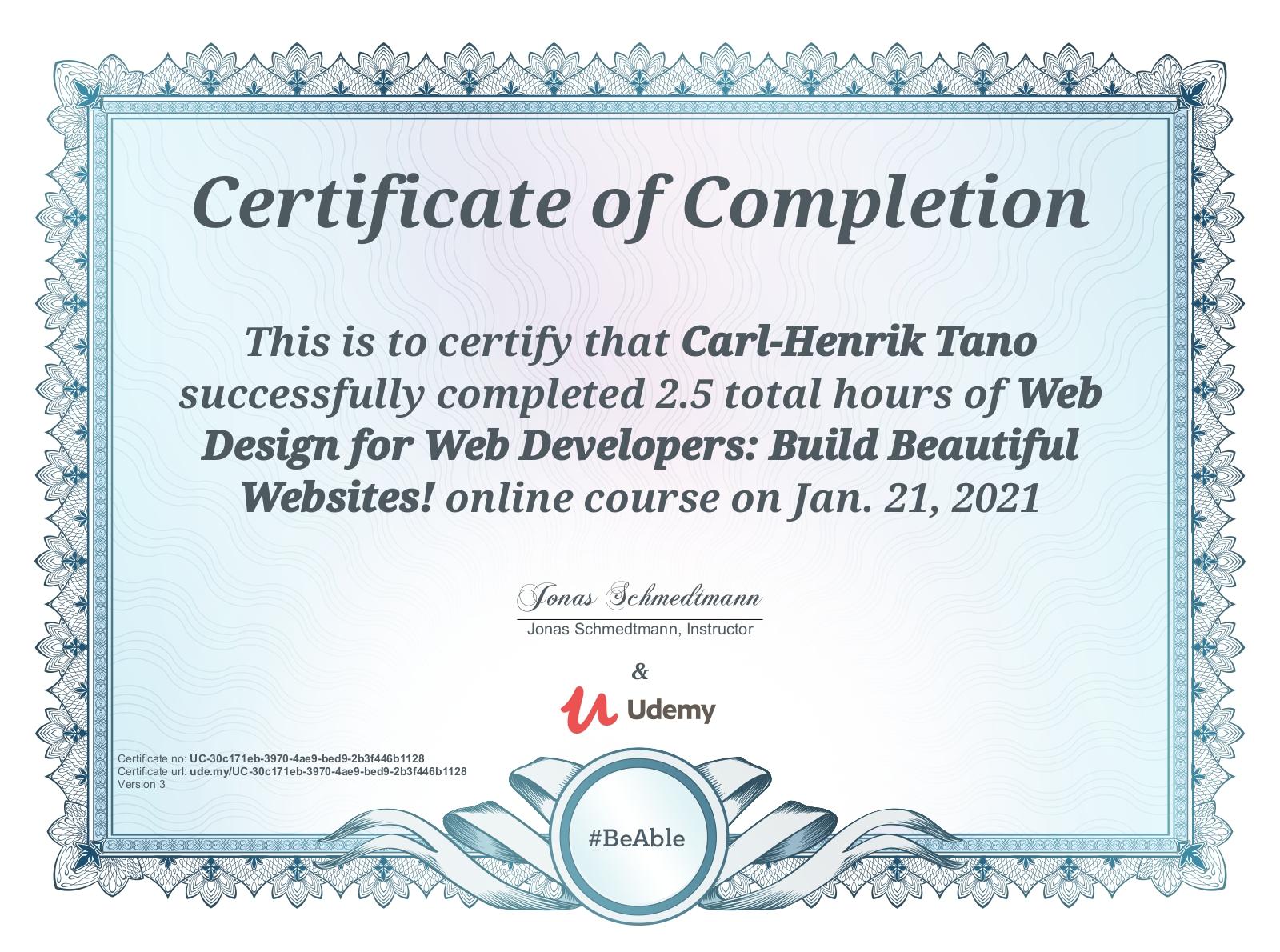 Kursdiplom – Web Design for Web Developers